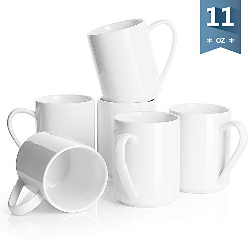 Sweese Porcelain Mugs - 16 Ounce for Coffee, Tea, Cocoa, ZS