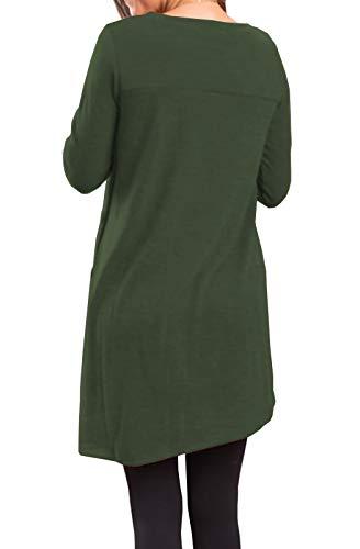 Button Side Sweater Tunic Dress