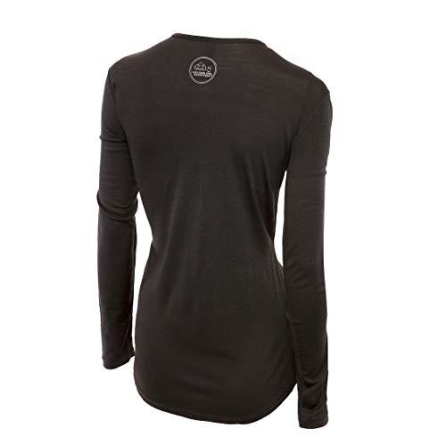 Merino Wool Women's Long Sleeve Top  Crew Neck Shirt   Lightweight   Moisture Wicking   Top Base Layer   Small Grey