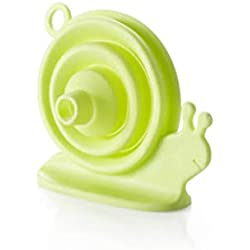 Hot Sale!UMFun Household Holding Telescopic Mini Snail Small Funnel Food Grade Silica Gel Separation Funnel (Green)