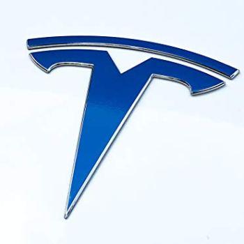 Nikola Pro Tesla Model 3 Logo Decal Wrap Kit (Gloss Blue)