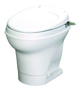 Aqua-Magic V RV Toilet Hand Flush / High Profile / White - Thetford 31667