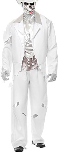 Adult Medium 40-42 White Zombie Prom Ghost Groom Costume