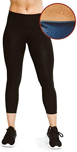 Sweat Shaper Women's Sauna Leggings Compression High Waist Yoga Pants Thermo Sweat Capris 1