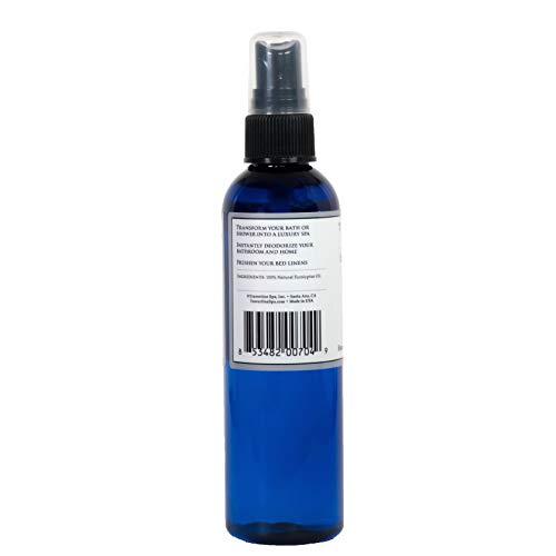 Travertine Spa Steam Shower Spray | Eucalyptus Shower Spray | Eucalyptus Oil Mist for Shower Aromatherapy | Sinus and Congestion Relief | Steam Room Spray | 100% Natural Eucalyptus Oil | 4 fl oz