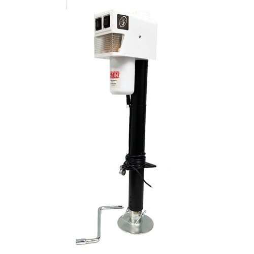 RAM 3004.5068 White 3,500 lb. Electric Trailer Jack with Drop Leg