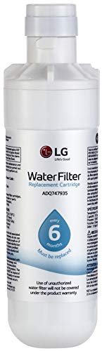 LG LT1000P Refrigerator Water Filter, Filters up to 200 Gallons of Water, Compatible with Select l LG French Door and Side-by-Side Refrigerators with SlimSpace Plus Ice System