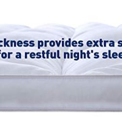 Home Sweet Home Dreams Thick Hypoallergenic Down Alternative Bed Mattress Topper, Queen, 2″ H