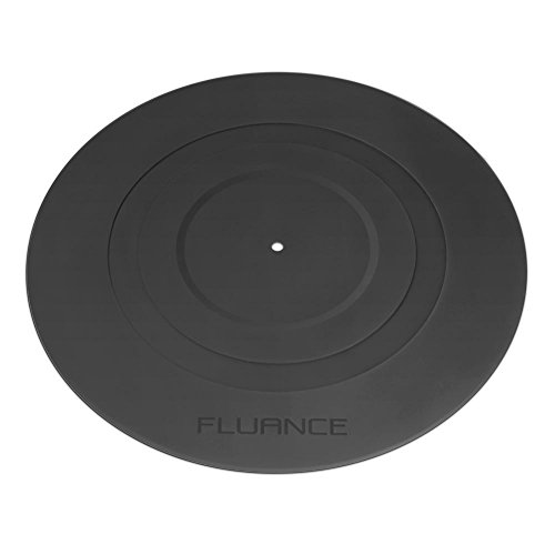 Fluance Turntable Platter Mat (Rubber Black) - Durable Audiophile Grade Silicone Design for Vinyl Record Players (PFHTRP)