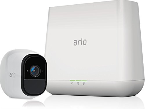 Arlo Pro - Wireless Home Security Camera System with Siren | Rechargeable, Night vision, Indoor/Outdoor, HD Video, 2-Way Audio, Wall Mount | Cloud Storage Included | 1 camera kit (VMS4130)