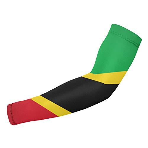 ManSanTuBaZhu St.Kitts and Nevis Large Flag Unisex Protection Sleeves-Sun Gloves Cover,Anti-UV Sunscreen Cool Arm Long Elasticity for Outdoor Sports-1 Pair