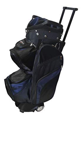CaddyDaddy Roadrunner Wheeled Cart Golf Bag (Black/Blue)