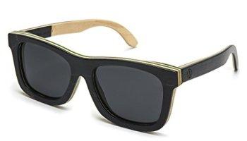 tree tribe wood sunglasses polarized lens skateboard wooden frame case