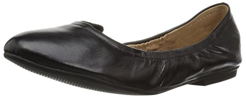 31Bg8wYWCuL A small topline tab distinguishes this classic ballet flat in leather featuring an elasticized opening and minimalist heel. Slip-on closure