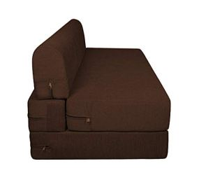 Aart-Store-High-Density-Foam-Sofa-Cums-Bed-Furniture-Two-Seater-4x6-Feet-with-Two-Cushion-Perfect-for-Guests-Brown-Color