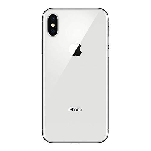 Apple iPhone X, GSM Unlocked, 64GB - Silver (Renewed)