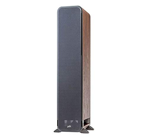 Polk-Audio-Signature-Series-S55-American-Hi-Fi-Home-Theater-Medium-Tower-Speaker-Single-Classic-Brown-Walnut