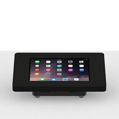 VidaMount-Black-Home-Button-Covered-Enclosure-and-Fixed-Tilted-15-DeskSurface-Mount-Bundle-Compatible-with-iPad-Mini-123