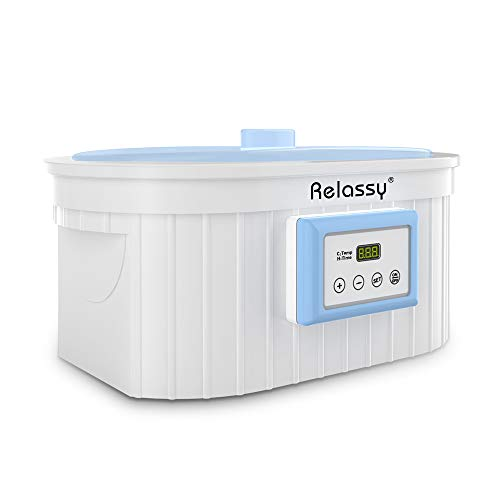 Paraffin Wax Machine for Hand and Feet, 5000ml Large Paraffin Wax Bath, Relassy Paraffin Wax Warmer, Auto Timer & Keep Warm Function, Smooth and Soft Skin Paraffin Wax Machine Kit (Blue)