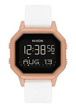 NIXON Siren SS A1211 - Rose Gold/Black - 100m Water Resistant Women's Digital Sport Watch (36mm Watch Face, 18mm-16mm Stainless Steel Band)