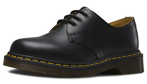 Dr. Martens 1461 3-Eye Gibson Lace-Up,Black Smooth,UK 8 (US Men's 9, Women's 10) M US