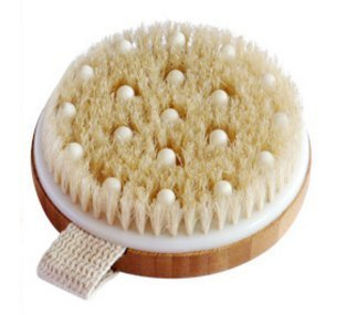 C.S.M. Body Brush for Wet or Dry Brushing - Gentle Exfoliating for Softer, Glowing Skin - Get Rid of Your Cellulite and Dry Skin, Improve Your Circulation - Gentle Massage Nodes
