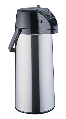Zojirushi AASB-22SBXA Premier Air Pot Beverage Dispenser, 2.2 Liters, Stainless, Made in Japan.