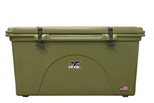 ORCA ORCG140 Cooler with Extendable flex-grip handles for comfortable solo or tandem portage, 140 quart, Green