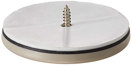 Shepherd Hardware 9454 2-1/2-Inch Round, Adhesive Slide Glide Furniture Sliders, 4-Pack