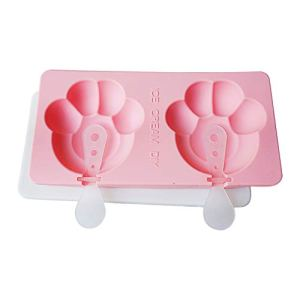 MMOOVV Silicone Ice Cream Mold,Hot Selling Beautiful with Lid Popsicle Mold (PinkA) 31DXtvJ4DxL