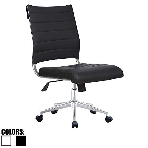 Modern Ergonomic Executive Mid Back PU Leather Chair