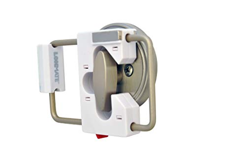 LOKmate Deadbolt Guard Door Lock Security - Magnet Version (White/Satin Nickel)