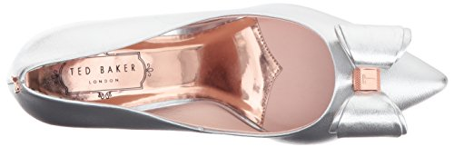 31ELmsdifLL Ted's signature bow court shoe featuring double bow at the toe with metal branded centre, mini metal bow at the back counter, printed back counter lining