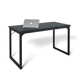 Computer Desk 47″, Modern Simple Style Desk for Home Office, Sturdy Writing Desk, Coleshome, Black