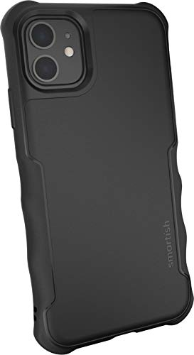 Smartish iPhone 11 Armor Case - Gripzilla [Rugged + Protective] Slim Tough Grip Cover - Black Ti...
