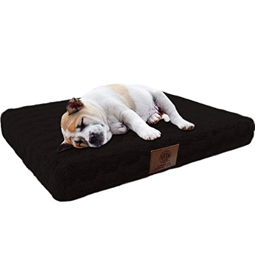 American Kennel Club Orthopedic Crate Pet Bed, 30 by 22-Inch,  Black