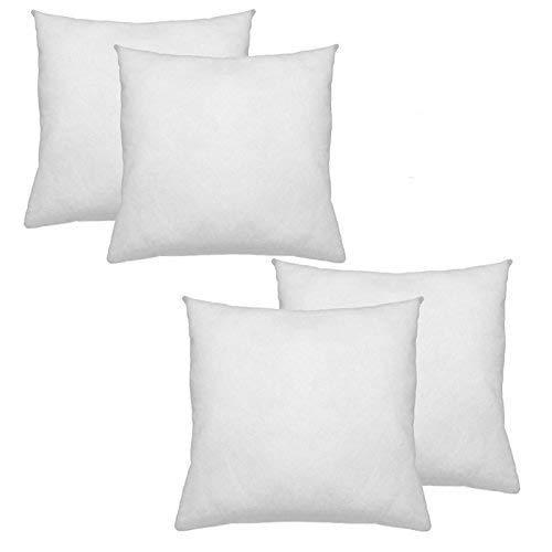 IZO All Supply Square Sham Stuffer Hypo-Allergenic Poly Pillow Form Insert, 20' L x 20' W (4 Pack)