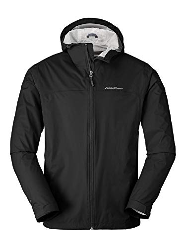 Eddie Bauer Men's Cloud Cap Lightweight Rain Jacket, Black Regular S