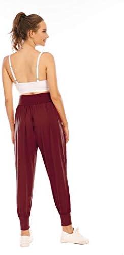 Zamowoty Womens Workout Sweatpants High Waist Yoga Joggers Running Pants Pajama Lounge Pants with Pockets 3