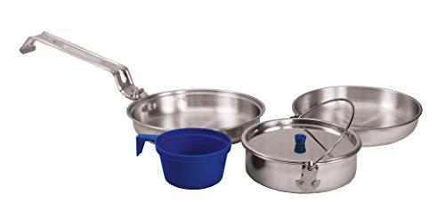 Texsport - Juego de 5 utensilios de cocina de aluminio resistente para camping al aire última...