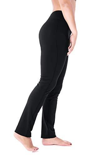 Straight leg yoga pants with pockets
