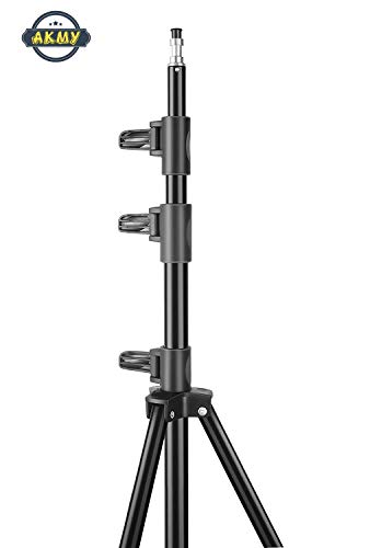31GUJSa3SWL AKMY 7 Feet Big Big Tripod Stand for Phone and Camera Adjustable Aluminium Alloy Big Tripod Stand Holder,Photo/Video Shoot,TIK Tok/YouTube Videos with Mobile Clip Holder Bracket