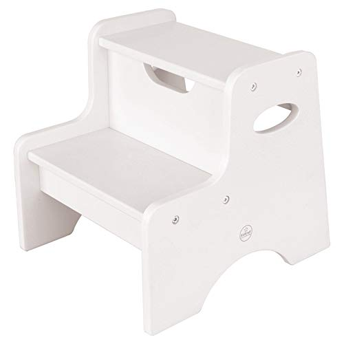 KidKraft Wooden Two Step Children's Stool with Handles-...