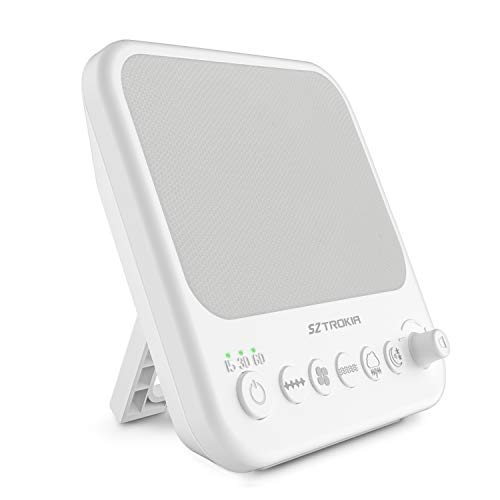 White Noise Machine, Sztrokia Sleep Sound Machine for Baby, Office Privacy, Travel, Insomniac -10 Unique Sound Therapy with Fan Noise, White Noise and Natural Sounds, Sleep Timer, USB Charger Port