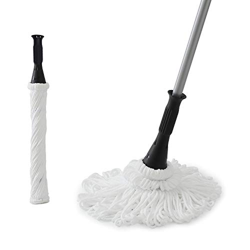 Eyliden 57.5' Microfiber Twist Mop Hand-Free Washing Mop Floor Cleaning Dust Mops with Removable Washable Head Replacement