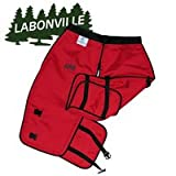 Labonville Full-Wrap Chainsaw Safety Chaps - Orange Regular