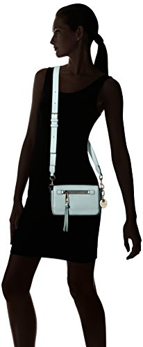 31H%2BWWpbKBL Mini handbag in pebbled leather featuring decorative logo fob Removable and adjustable cross-body strap