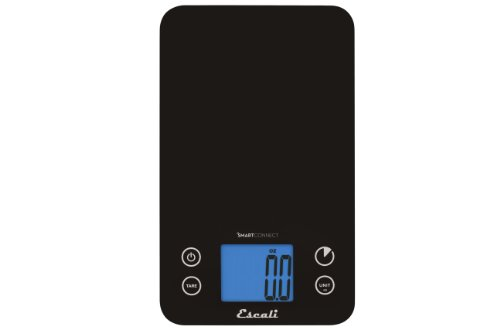 Escali SC115KS Smart Connect Bluetooth Nutrition Kitchen Scale, Choose 35 Nutrients From a Selection of Over 8000 Foods, Syncs with Escali App via Bluetooth, LCD Digital Display, 11lb Capacity, Black