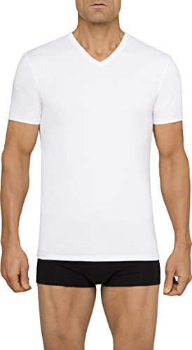 31H6fdr9 nL Cotton stretch undershirts v neck multipack Soft and breathable stretch cotton blend Tagless for comfort