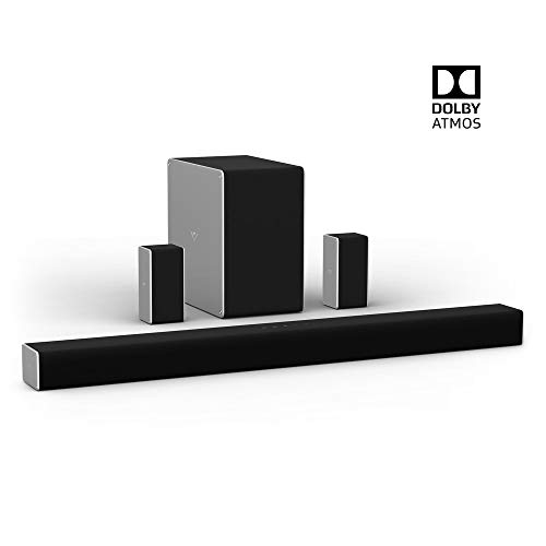 VIZIO SB36514-G6 36″ 5.1.4 Premium Home Theater Sound System with Dolby Atmos and Wireless Subwoofer